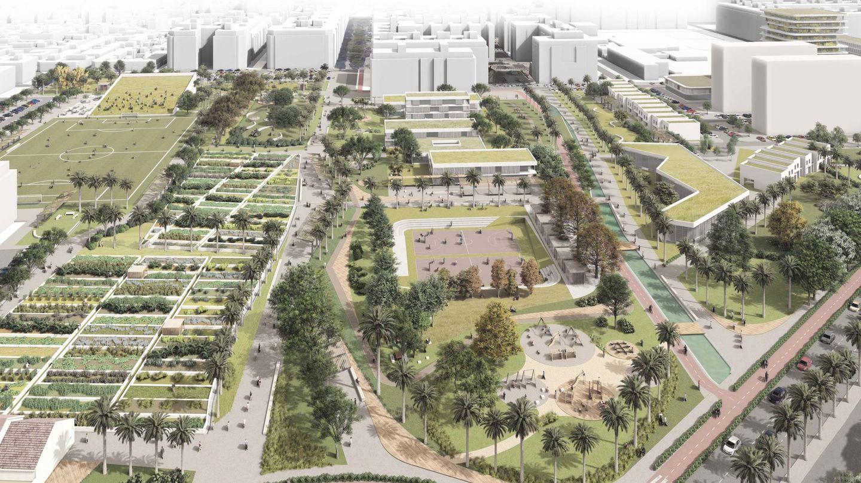La almendra central del PAI de Benimaclet de Metrovacesa concentrará las zonas verdes y dotacionales.