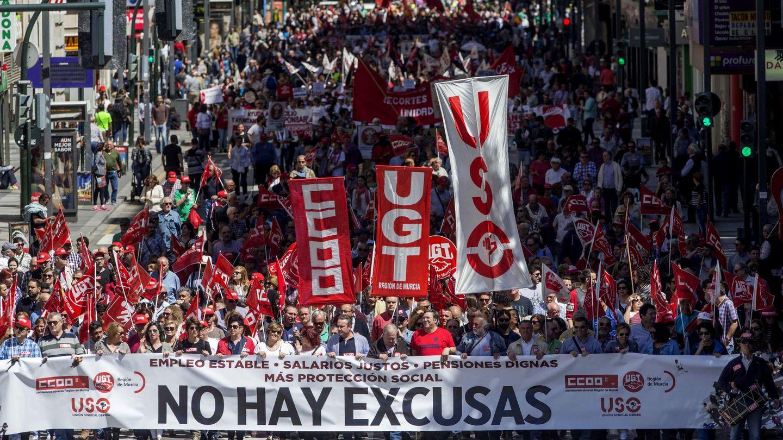 Manifestación del Primero de Mayo. (EFE)