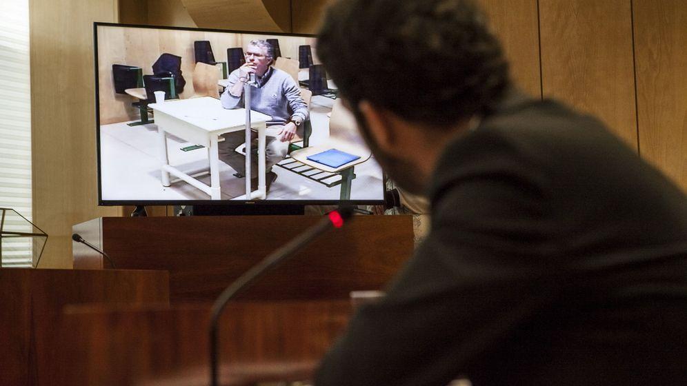 Foto: El exconsejero y exsecretario general del PP de Madrid Francisco Granados comparece por videoconferencia desde prisión. (EFE)