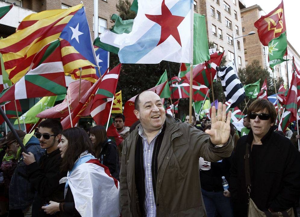 Foto: Pernando Barrena, en una manifestación independentista. (EFE)