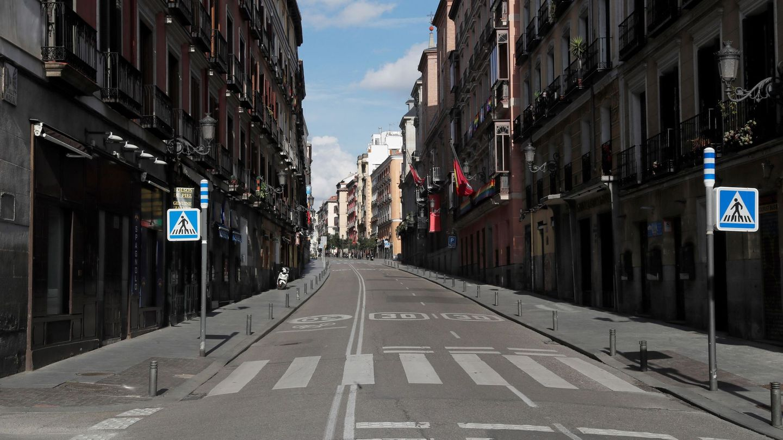 Calles de Madrid vacías durante el confinamiento en la pandemia. Foto: EFE
