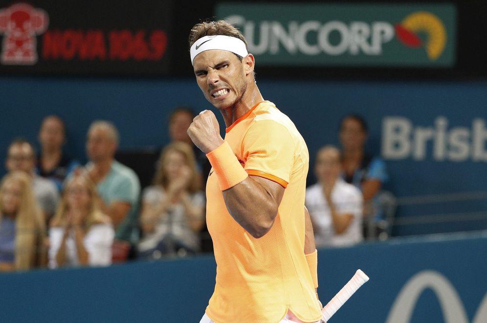 Foto: Rafa Nadal, tras imponerse a Alexandr Dolgopolov. (EFE)