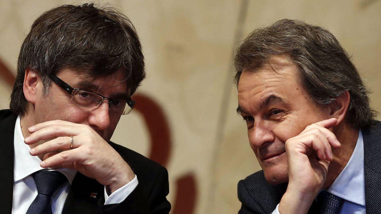 Puigdemont y Mas, en una foto de archivo. (EFE)
