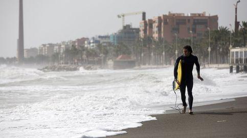 Temporal de levante y fuerte oleaje en las playas de mÁlaga