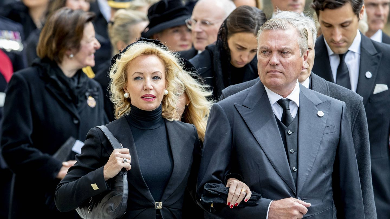 Los duques de Castro, en el funeral de Jean de Luxemburgo. (EFE)