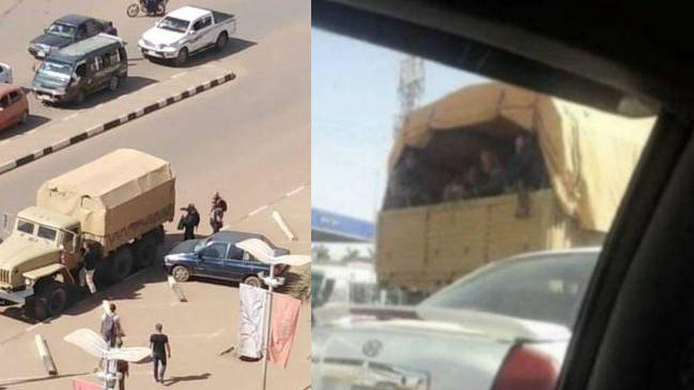 Foto: Imágenes tomadas por ciudadanos sudaneses que muestran la presencia de contratistas rusos en Jartúm