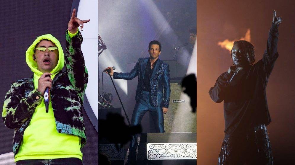 Foto: Bad Bunny, The Killers y Kendrick Lamar, confirmados en el cartel del BBK Live 2020. (Efe/Reuters)