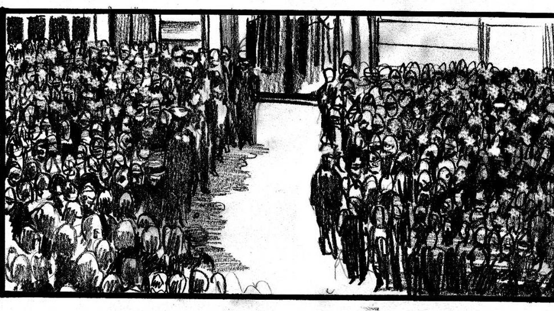 Imagen del storyboard de la película '75 días'.