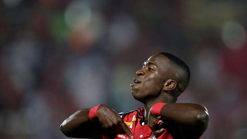 El primer y espectacular doblete firmado por Vinicius Junior en el Flamengo