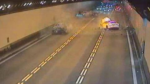 Impactantes imágenes de un accidente en un túnel en Barcelona