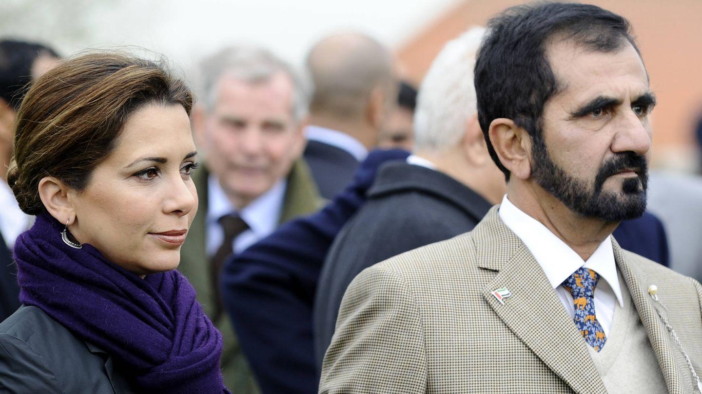 Haya de Jordania y el jeque Mohammed bin Rashid. (Getty)