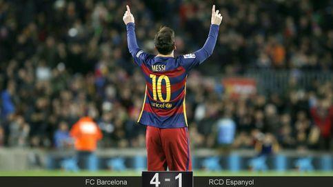 Leo Messi es el único capaz de poner el fútbol en un derbi macarra