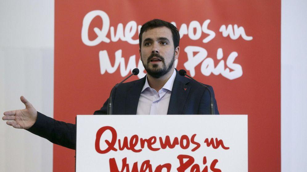 Foto: Alberto Garzón, presentando su candidatura a las primarias de Ahora en Común, este 14 de octubre en el Círculo de Bellas Artes de Madrid. (EFE)