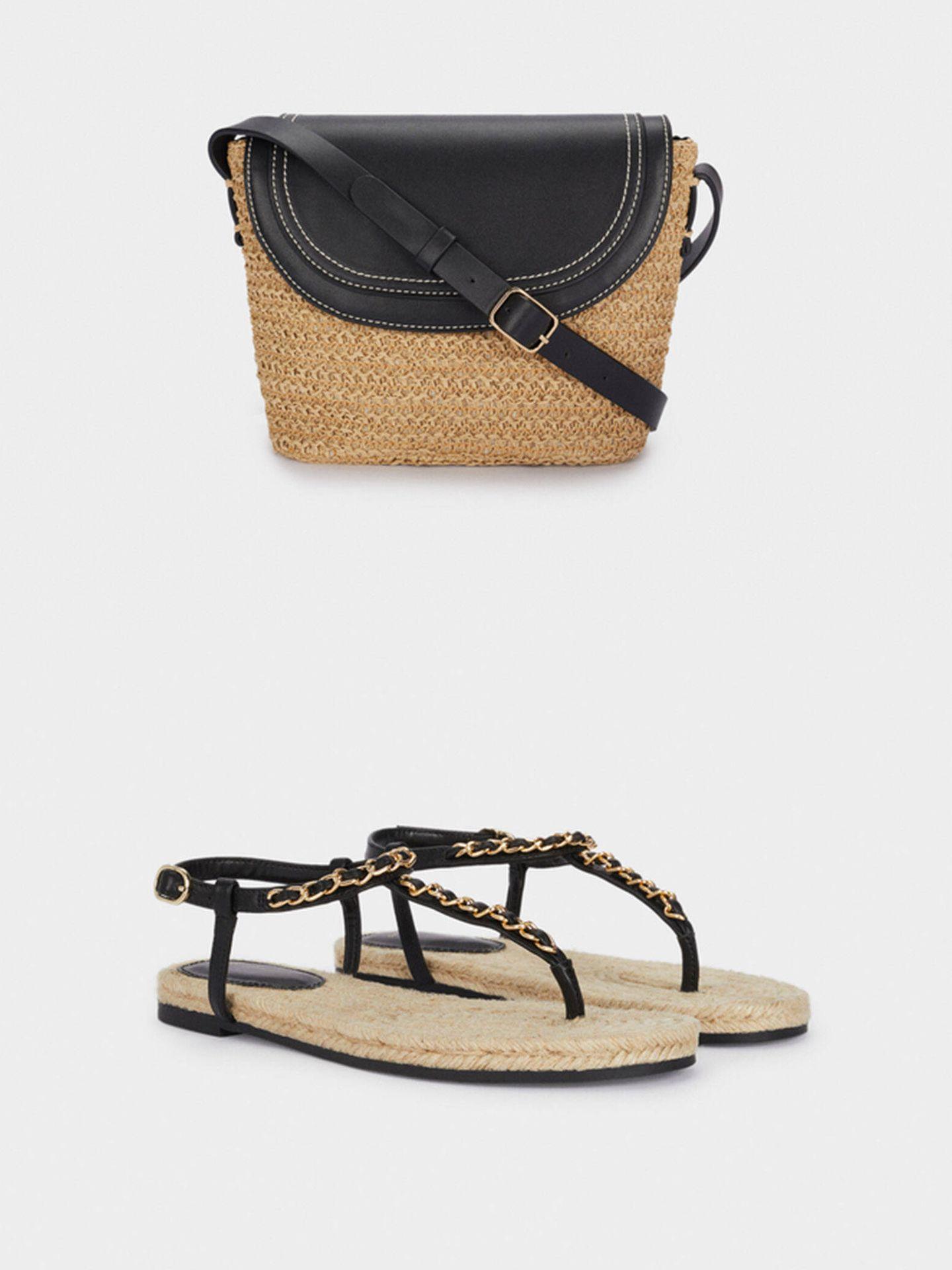 Bolso y sandalias de Parfois. (Cortesía)