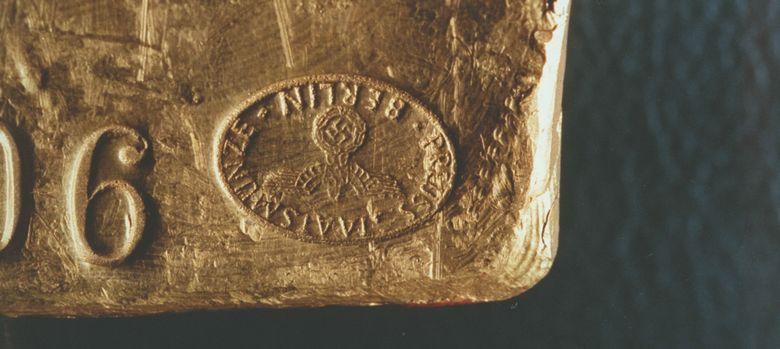 Foto: Un lingote nazi tal como se conserva en el Banco de Reino Unido. (Corbis)