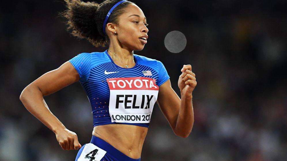 Foto: Allyson Felix, durante los Campeonatos del Mundo de Londres 2017, en los que ganó una medalla de bronce. (EFE)