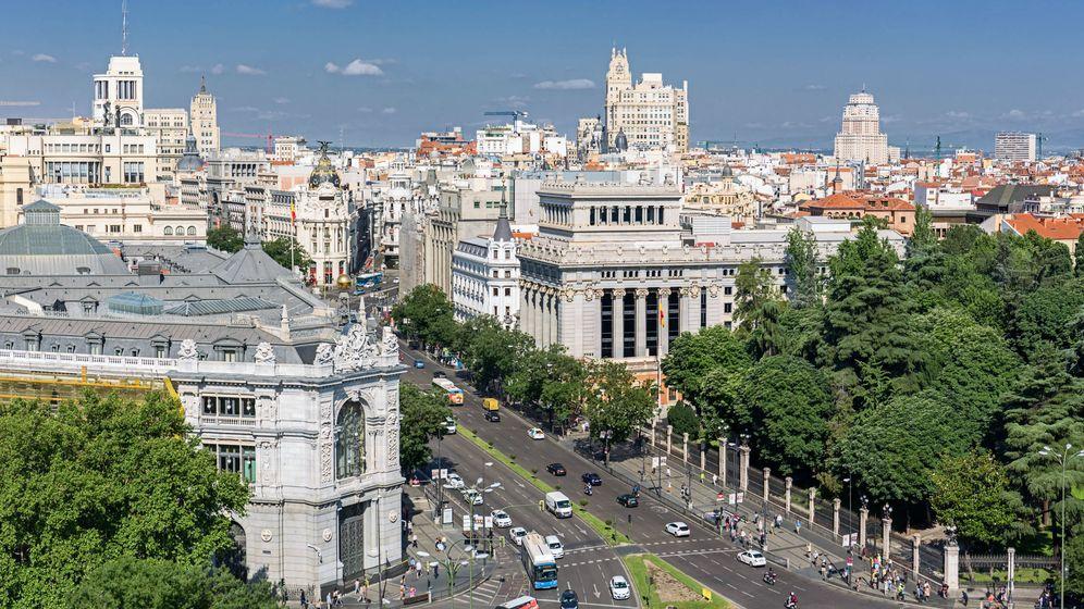 Foto: Vista del Banco de España y la calle Alcalá (Shutterstock)