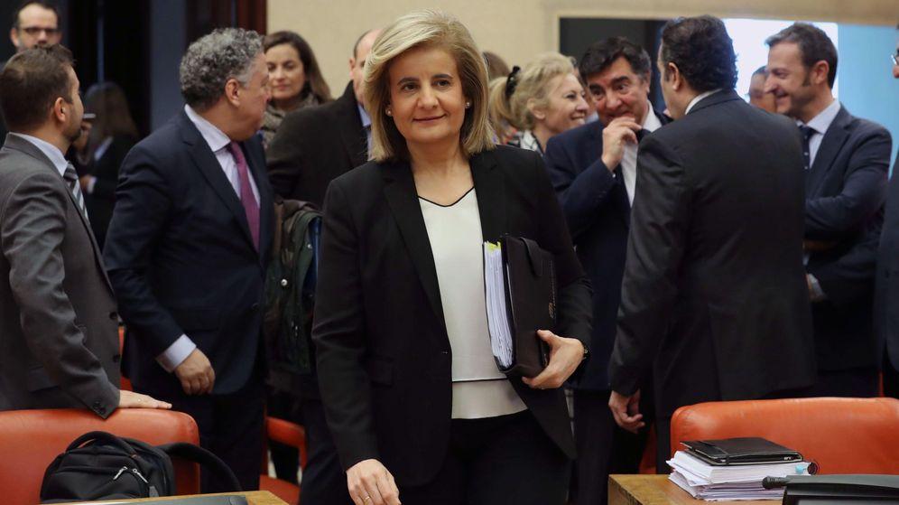 Foto: Fátima Báñez, en la comisión del Pacto de Toledo. (EFE)