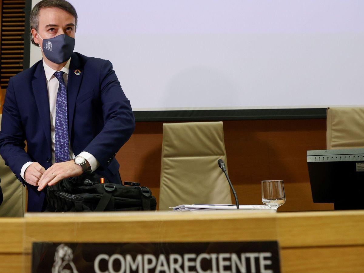 Foto: Iván Redondo, durante su última comparecencia en el Congreso. (EFE)