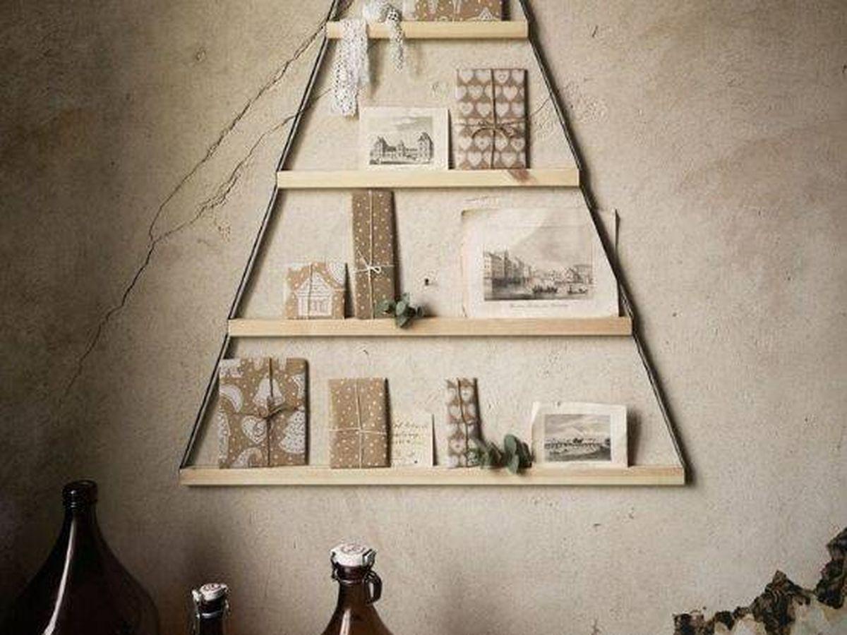 Foto: Arbolito de Navidad de pared de Ikea. (Cortesía)
