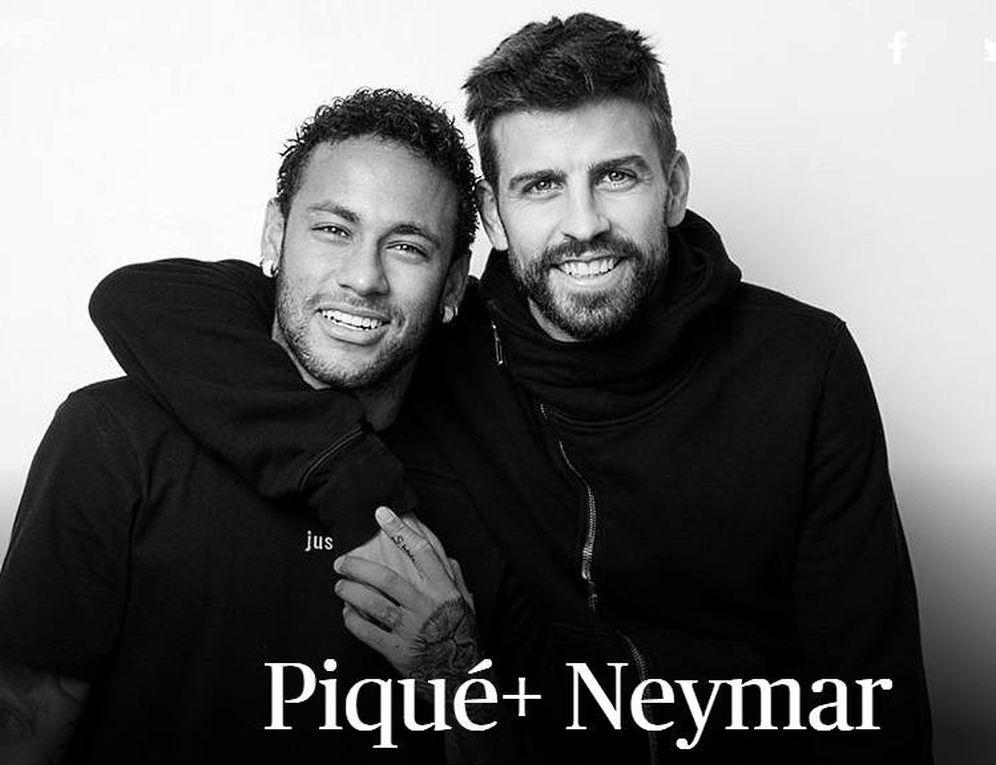 Foto: Piqué y Neymar posan en The Players Tribune.