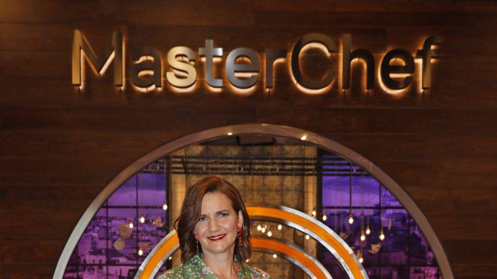 Foto: Samantha en la presentación de 'Masterchef 7'. (RTVE)