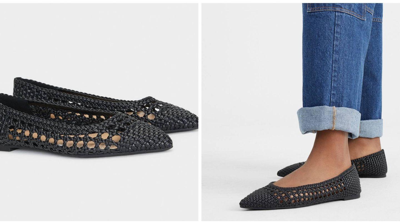 Zapatos planos de Parfois. (Cortesía)