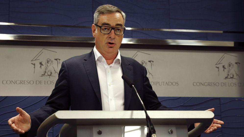Foto: El vicesecretario general de Ciudadanos, José Manuel Villegas, en una rueda de prensa en el Congreso. (EFE)