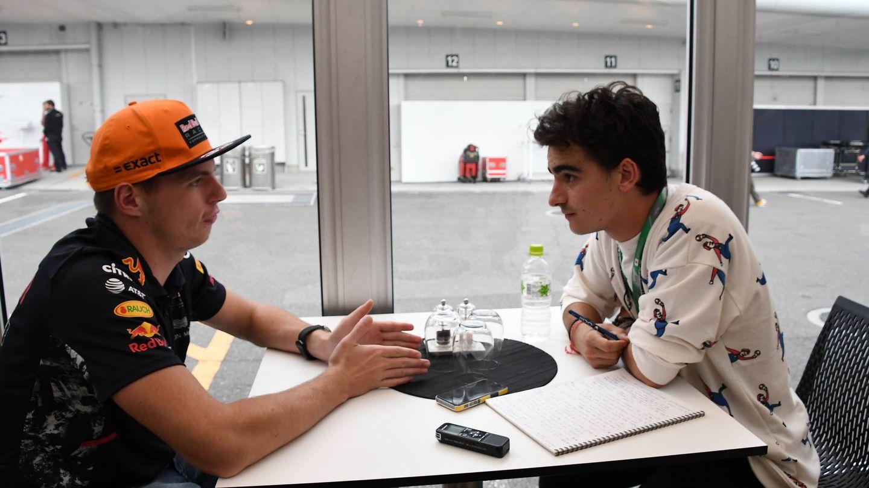 Verstappen, durante la entrevista con El Confidencial. (Foto: RV RacingPress)