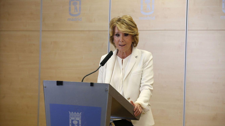 Esperanza Aguirre dimite tras entrar en prisión González: No vigilé lo suficiente