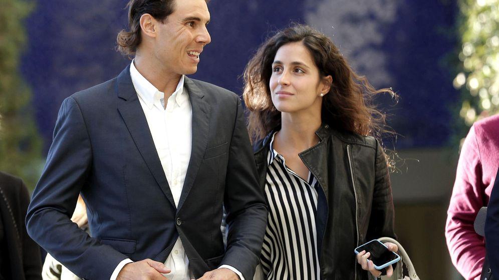 Foto: Rafa Nadal y Xisca Perelló, en un acto del Banco Sabadell. (EFE)