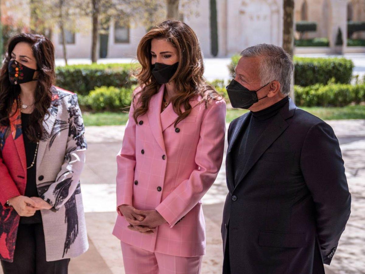 Foto: La reina Rania y el rey Abdalá. (Corte Hachemita de Jordania)