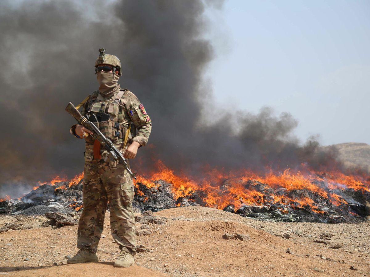 Foto: Un miembro de las fuerzas afganas en Nangarhar. (EFE)