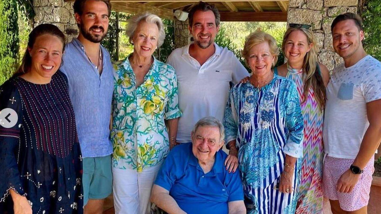 La reunión familiar por el cumpleaños de Ana María de Grecia.  (@detdanskekongehus)