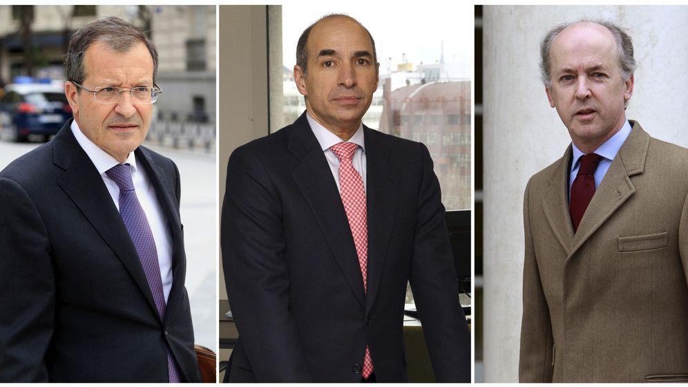 Foto: Fotos de archivo del presidente de Abengoa, Antonio Fornieles (i); el ex consejero delegado Manuel Sánchez Ortega (c), y el expresidente de la compañía Felipe Benjumea (d). (EFE)