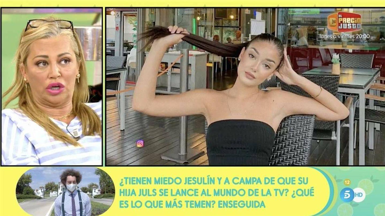 Julia Janeiro en 'Sálvame'. (Mediaset)