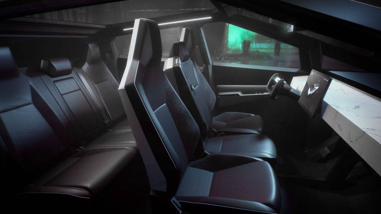 Interior del Tesla Cypertruck