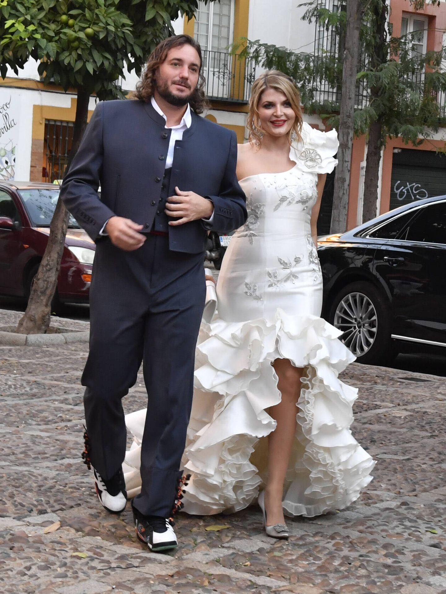 Francisco de Borbón y Sophie Elizabeth Karoly en su fiesta preboda. (Gtres)