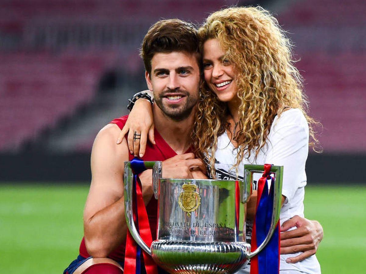 Foto:  Gerard Piqué y Shakira, tras ganar el Barça la Copa del Rey en 2015. (Getty)