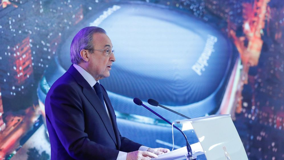 Foto: Presentación de la reforma del estadio Santiago Bernabéu.