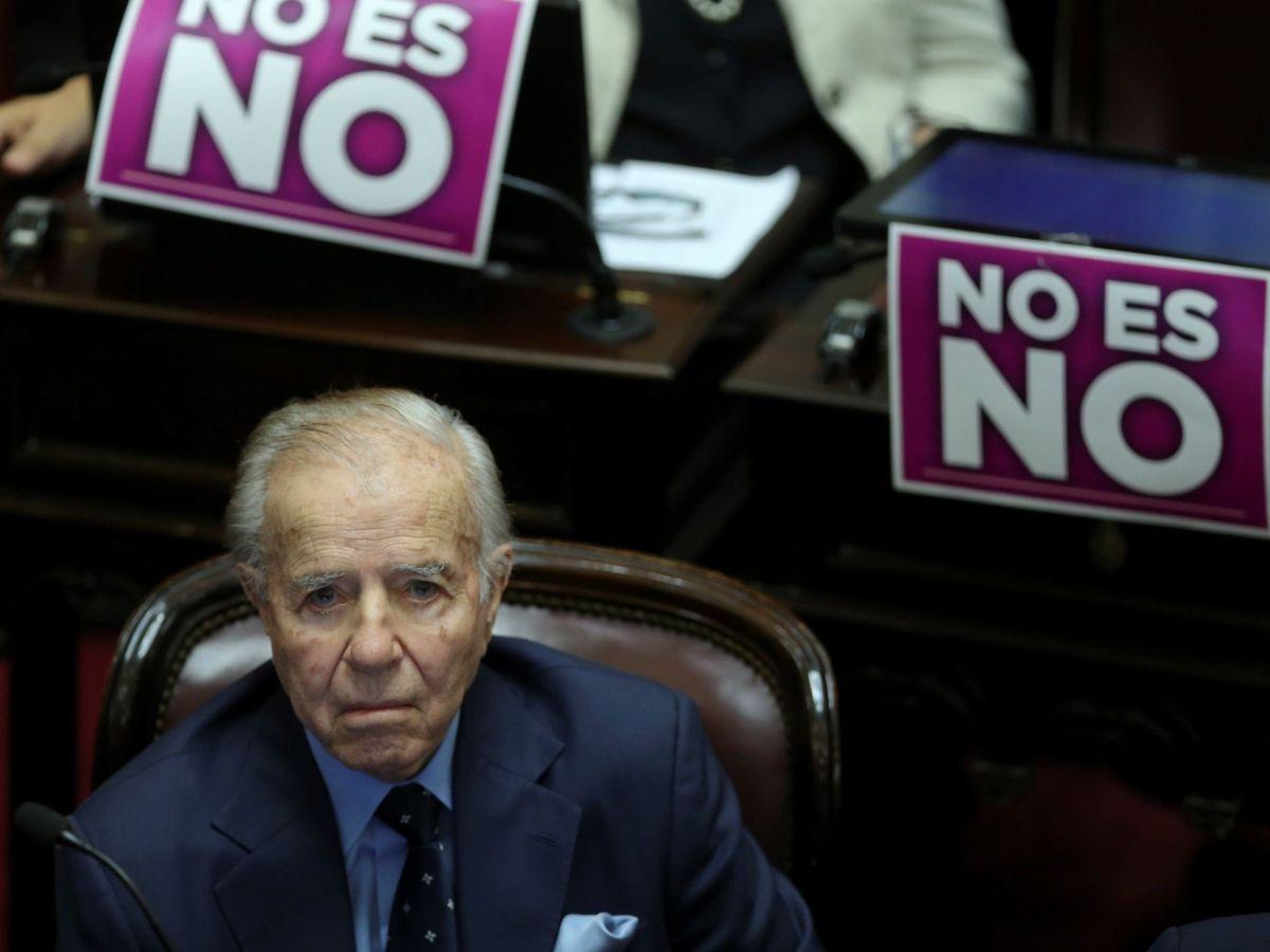 Foto: El expresidente de Argentina, Carlos Menem.