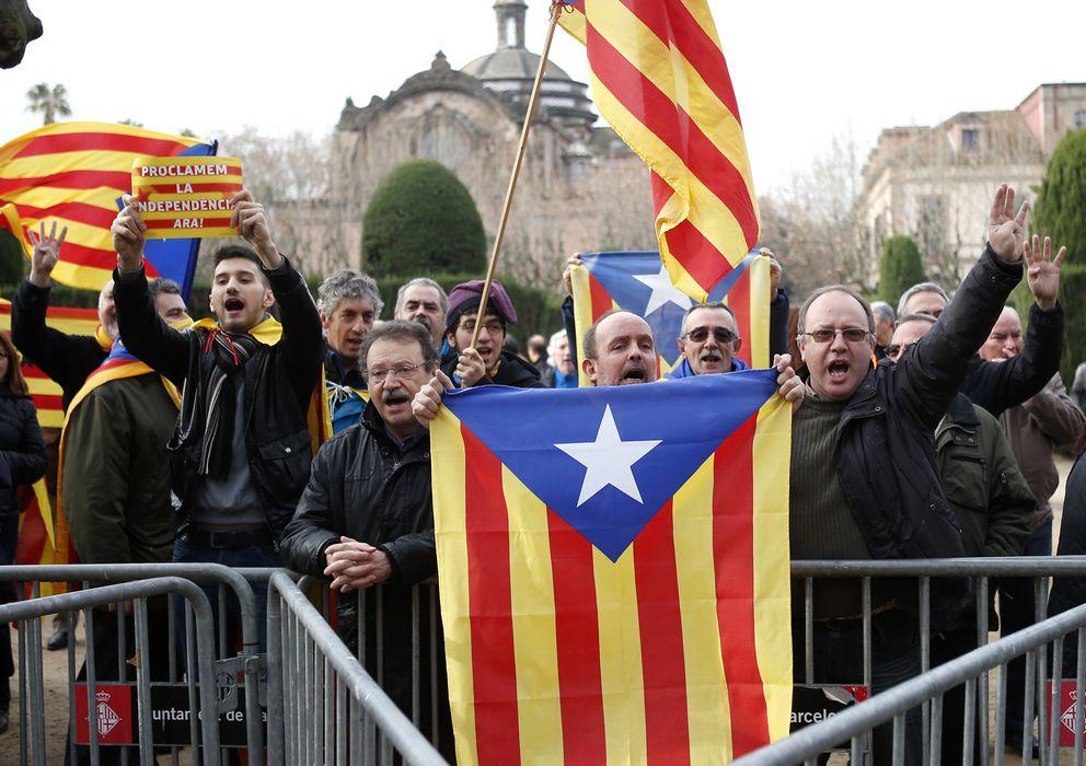 Foto: Independentistas catalanes, durante una concentración a principios de año. (Reuters)