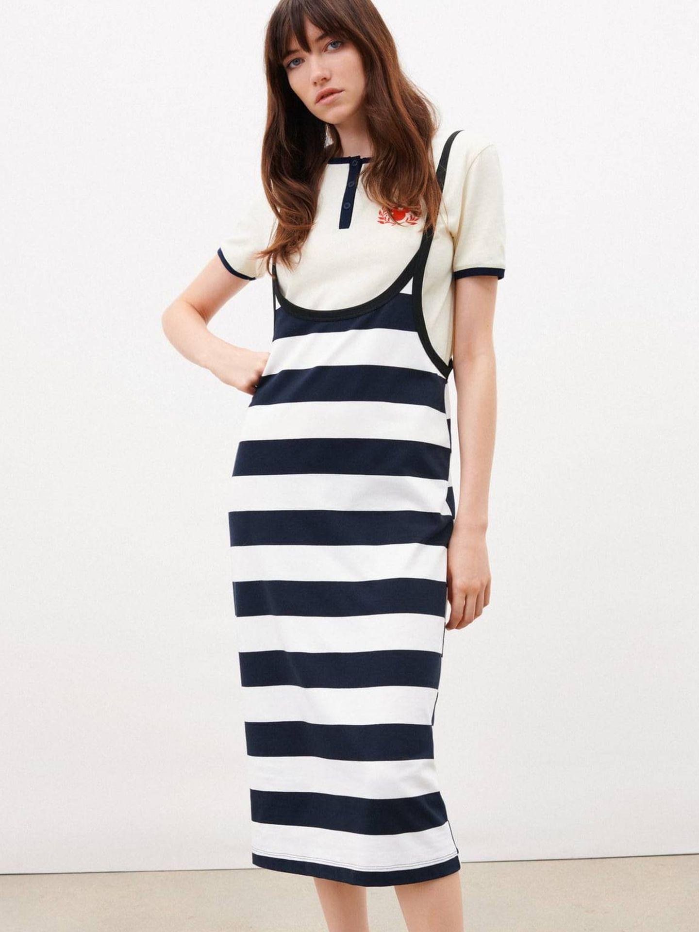 Falda de rayas de Zara. (Cortesía)