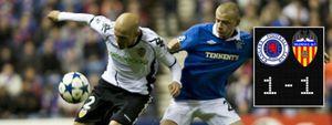 El dominio del Valencia no fue suficiente en Glasgow