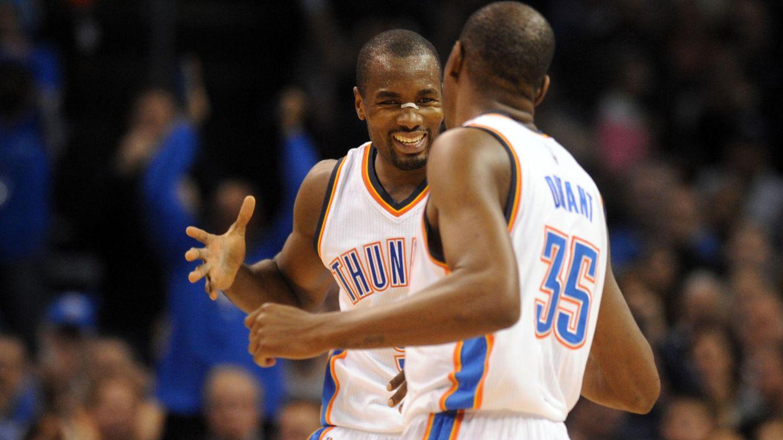 Foto: Serge Ibaka fue capaz de hacer olvidar las ausencias de Durant y Westbrook.