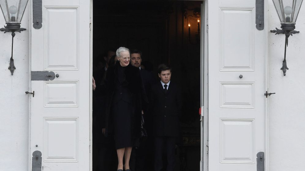 Foto: La reina Margarita con su nieto Christian. (Reuters)