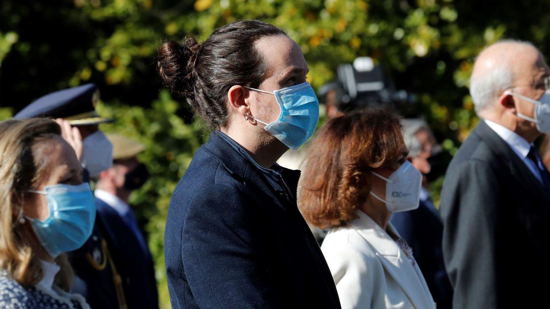 Pablo Iglesias, el Día Europeo de las Víctimas del Terrorismo. (EFE)
