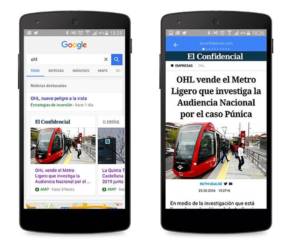 Foto: El Confidencial, en Google AMP