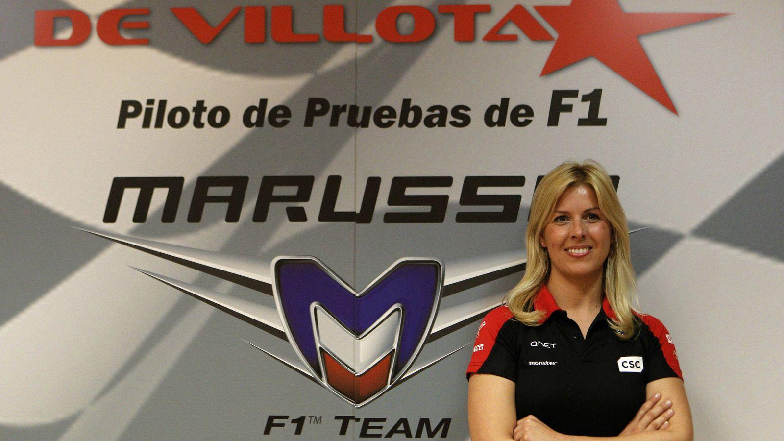 Foto: María de Villota en su presentación con Marussia.