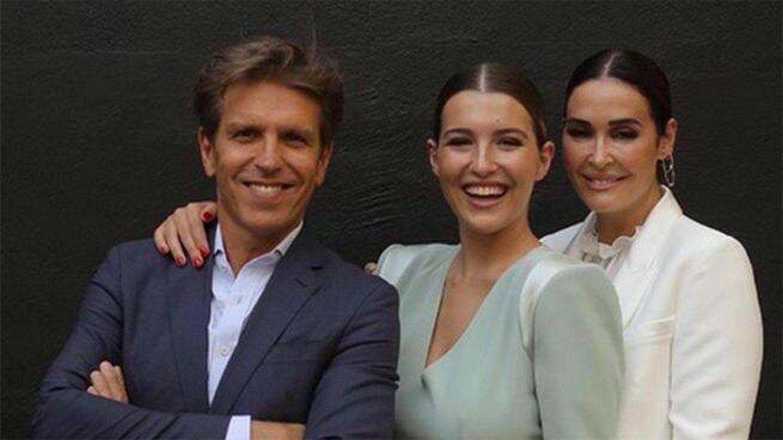 Vicky Martín Berrocal y Manuel Díaz, juntos en el día más importante de su hija Alba